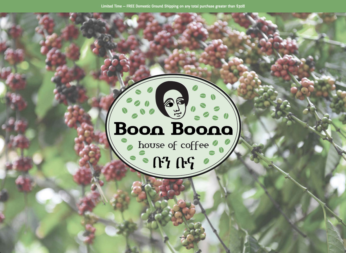 Boon Boona Coffee Home Page