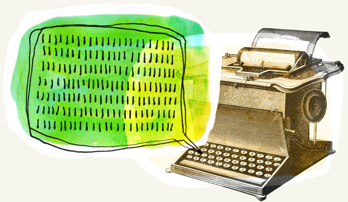 Email Newsletter Typewriter